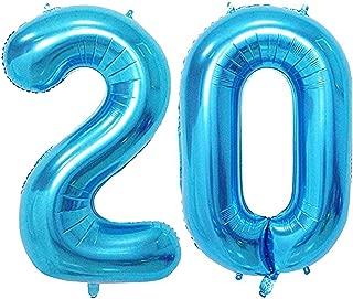 Tellpet Blue Number 20 Balloon, 40 Inch