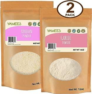 Yamees Onion and Garlic Powder – Onion Powder – Garlic Powder – Onion and Garlic Powder Combo - 2 Pack of 12 Ounce Each