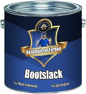 Goldmeister Farben Yachtlack Bootslack Yachtfarbe Bootsfarbe farbig Farbanstrich Schiffslackierung 2,5 L, Anthrazitgrau RAL 7016