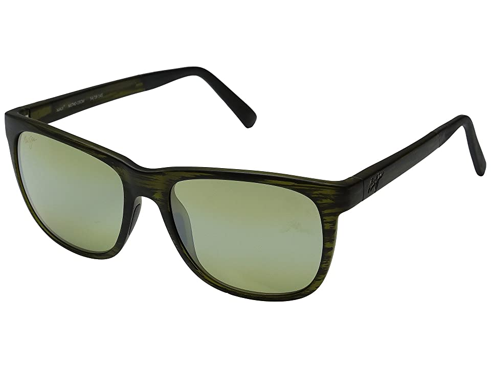 Maui Jim Tail Slide (Matte Green Stripe) Fashion Sunglasses