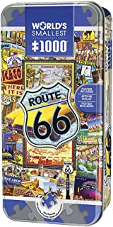 MasterPieces World's Smallest Jigsaw Puzzle Tin, Route 66, Collectable Box, 1000 Mini Pieces