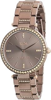 Coach Womens Quartz Wrist Watch, Brown Stainless Steel - 14503627