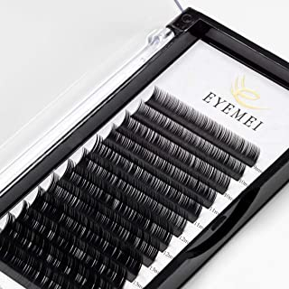 Eyelash Extensions 0.15mm C Curl 9-15mm Mixed Tray Natural Light Faux Mink Individual Lashes Extensions Supplies Professional Salon Use by EYEMEI (0.15-C-MIXED)