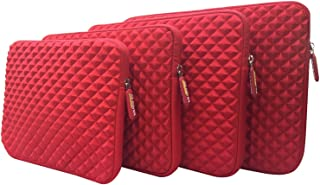 AZ-Cover 12.5-Inch Case Simplicity & Stylish Diamond Foam Shock-Resistant Neoprene Sleeve (Red) For ASUS Transformer Book T300 Chi Signature Edition 2 in 1 12.5-Inch Laptop PC