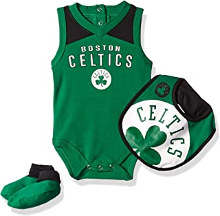 NBA Unisex-Baby Overtime Bodysuit, Bib & Bootie Set