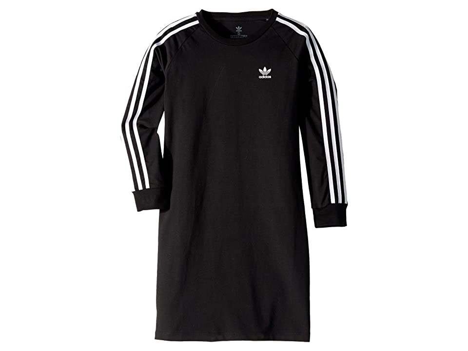 Image of adidas Originals Kids 3-Stripes Dress (Little Kids/Big Kids) (Black/White) Girl's Dress