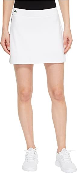 Technical Jersey Drawstring Skirt with Side Stripe