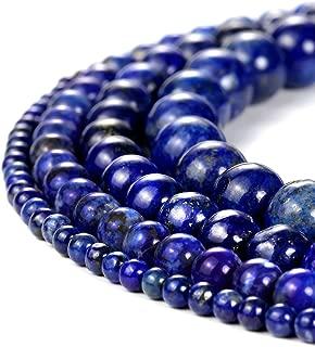 8mm Round Blue Lapis Lazuli Beads Semi Precious Gemstone Beads for Jewelry Making Strand 15 Inch (47-50pcs)