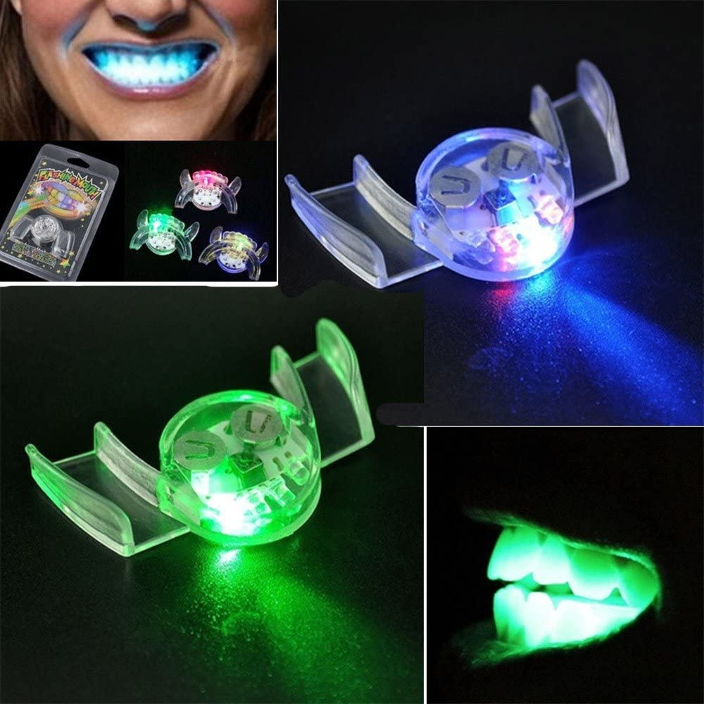 LED Flashing Teeth, Sandistore 1PC Flashing LED Light Up Mouth B