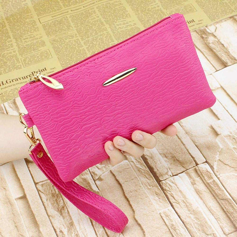 Girls Purse Women's Wallet Lady's Mobile Bag Female PU Purse (color   D)