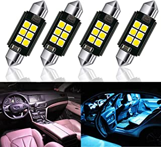 Extremely Bright 3030 Chipset Canbus Error Free LED Bulbs for Interior Car Lights License Plate Dome Map Door Courtesy 41/39/36/31MM Festoon White (31mm)