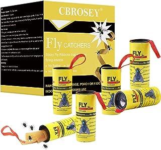 CBROSEY Atrapa Moscas,Trampa Moscas,Caza Moscas,Atrapa Insectos,Adhesivo Atrapa Insectos 16 Rollo...