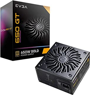 EVGA Supernova 650 GT, 80 Plus Gold 650W, Fully Modular, Auto Eco Mode with FDB Fan, Includes Power ON Self Tester, Compac...