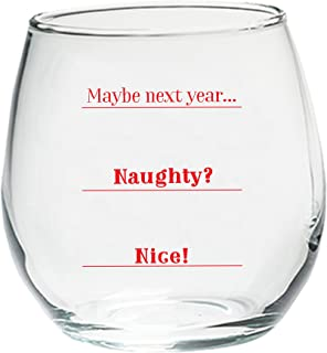 Best naughty or nice year glass Reviews