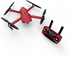 Solid State Red Decal for Drone DJI Mavic Pro Kit - Includes Drone Skin, Controller Skin and 3 Battery Skins