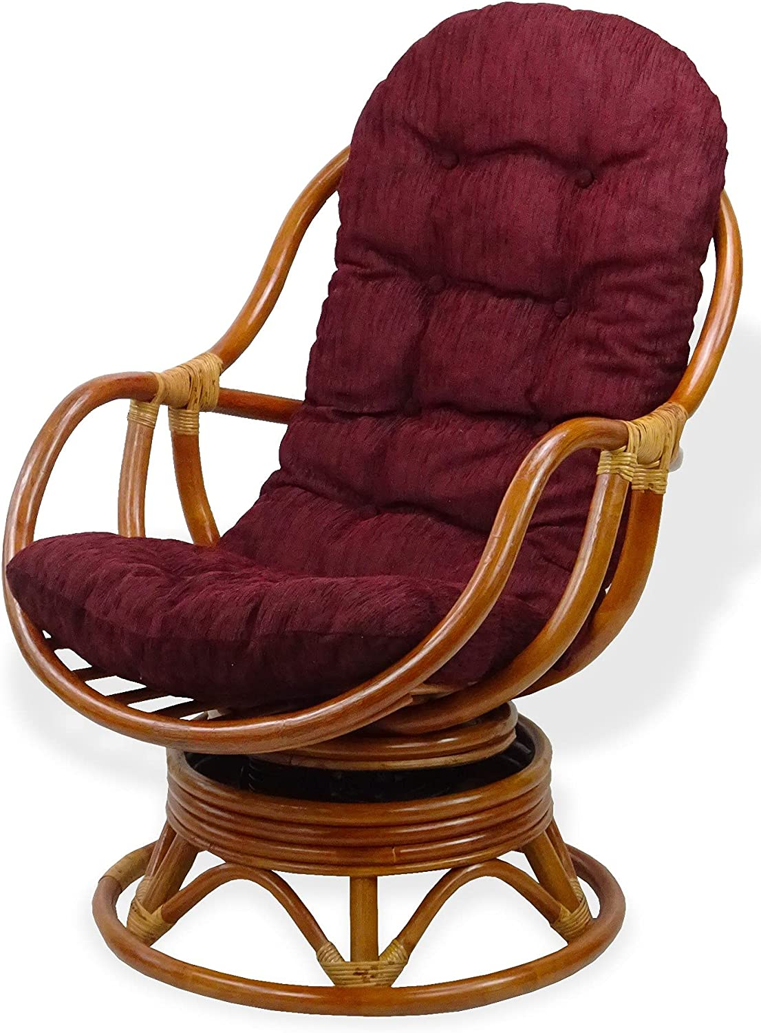 Bali Lounge Swivel Rocking Courier shipping free shipping Chair Brown Cushion Natural Ranking TOP15 Dark with
