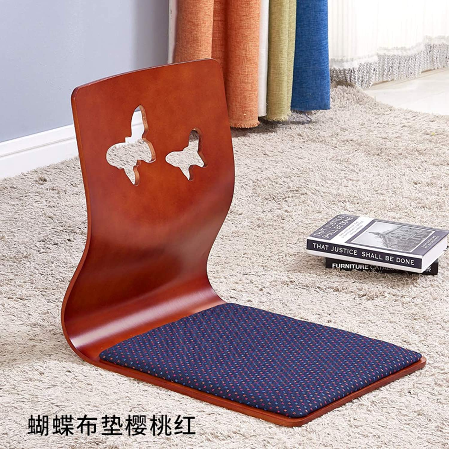 Padded Floor Chair,Tatami Lazy Adjustable Cushioned Recliner Portable Video-Gaming Reading Meditation Chair -I