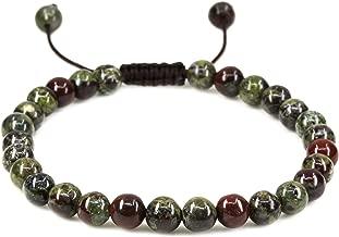 Handmade Gemstone 6mm Round Beads Adjustable Braided Macrame Tassels Chakra Reiki Bracelets 7-9 inch Unisex