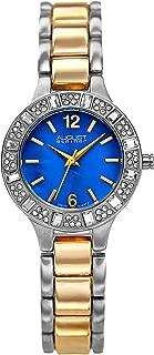August Steiner Women's Swiss Fashion Watch - Unique Crystal Bezel around Dial on Stainless Steel Bracelet