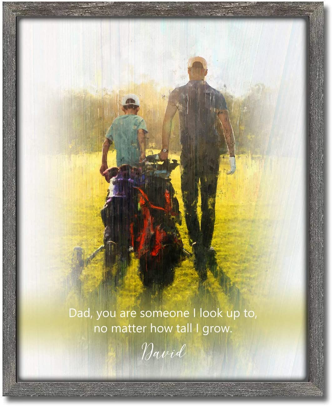 Cheap Father Child Son or Daughter 12.5 Personalized - Golf Print Cheap bargain