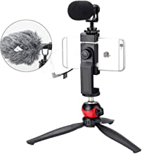 EACHSHOT Microphone for iPhone with Tripod, Recording Equipment with External Videomic Shotgun Mic and Stand for Android C...