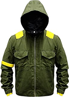 Mens Green Pilots Cotton Trench Jumpsuit Hoodie Levitate Camouflage Jacket
