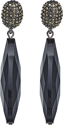 LAUREN Ralph Lauren - Pyrite Pave Clip with Long Teardrop Clip Earrings