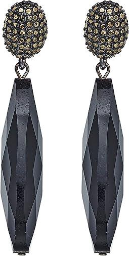 LAUREN Ralph Lauren - Pyrite Pave Clip with Long Teardrop Clip Earrings