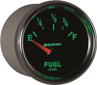 Auto Meter 4814 Carbon Fiber 2-5//8 0 E// 90 F Short Sweep Electric Fuel Level Gauge