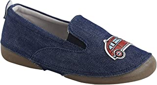 56bfa78a VERTBAUDET Zapatillas Patucos de Lona, para niño Azul Medio Liso con  Motivos 25