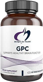 Designs for Health GPC Capsules - 300mg Alpha-Glycerophosphocholine, Vegetarian GPC Choline Supplement - Supports Healthy ...