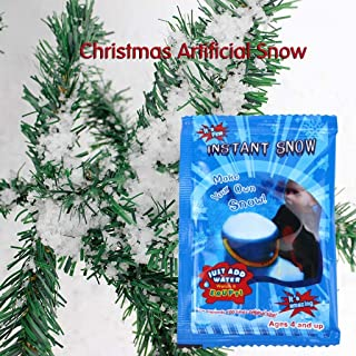 Christmas Decor DIY Instant Artificial Pretend Fake Instant-Snow,Bagged artificial snow water snow and water expansion fake snow snowflake does not melt Christmas quality snow powder