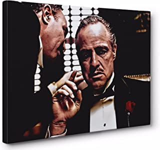 The Godfather Vito Corleone Framed Canvas Wall Art (Ready To Hang) (24x36in.)