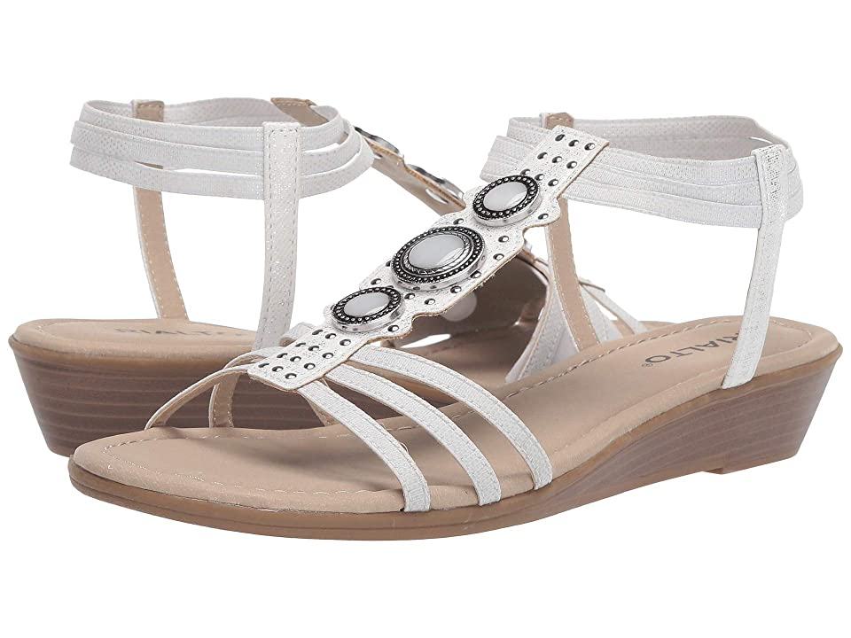 Rialto Georgy (White Metallic Smooth) Women