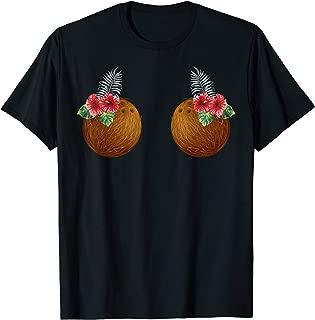 Coconut Bra Flower Boobs   Funny Hawaii Aloha Lei Shirt