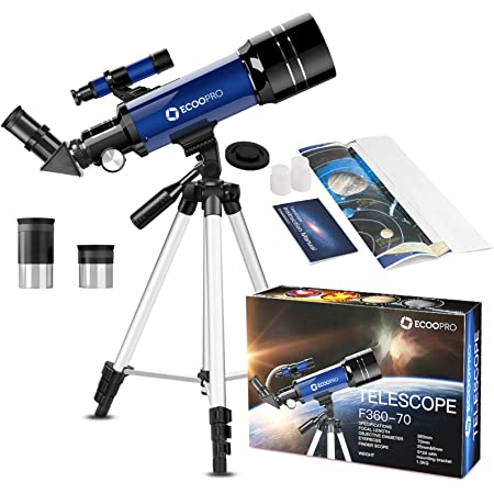 Astronomy 400mm Telescope for Kids /& Adults 70mm Refractor with Finder Scope /& Tripod to Observe Moon and Planet f//5.7
