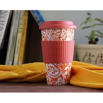 Kathy Ireland Porcelain Coffee Mug - 1 Piece, Orange, 500 ml