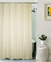 Lushomes Unidyed Cream Polyester Designer Bathroom Shower Curtain with 12 Plastic Eyelets
