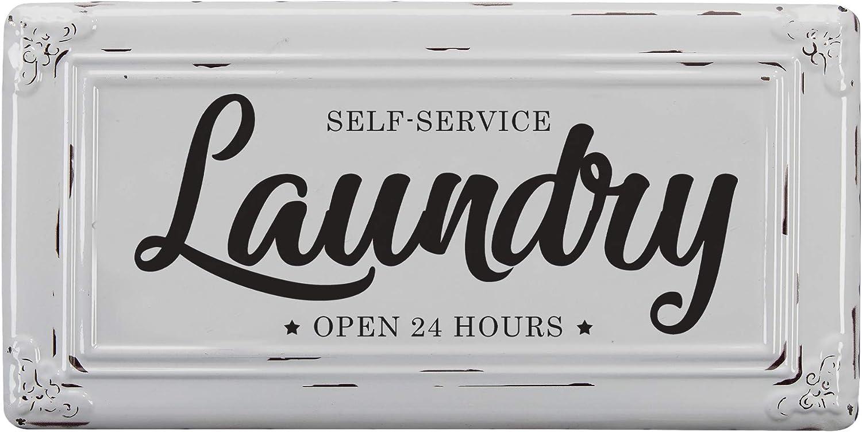 Barnyard Designs Max 46% OFF Self-Service Large discharge sale Laundry Wall Vintage Primitiv Sign