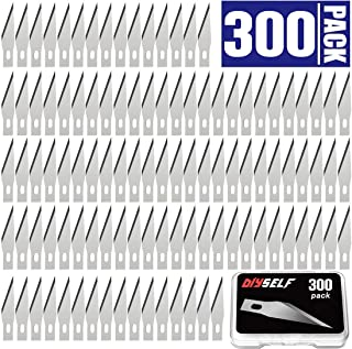 300 PCS Exacto Knife Blades, High Carbon Steel #11 Refill Exacto Art Blades Cutting Tool with Storage Case for Craft, Hobby, Scrapbooking, Stencil