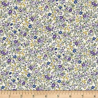 Robert Kaufman 0465571 Sevenberry Bouquet Large Flower Fabric by The Yard, Purple