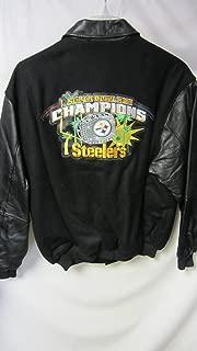 G-III Pittsburgh Steelers Men's Large Full Super Bowl XLIII Champions Wool Leather Jacket AMZ-B 442 Ham Amz 1058