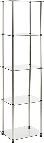 Convenience Concepts 5 Tier Glass Tower