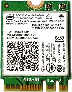 インテル Intel Dual Band Wireless-AC 3160 + Bluetooth 4.0 3160NGW 802.11ac デュアルバンド Wi-Fi + Bluetooth 4.0 アダプター 最大433Mbps 無線LANカード