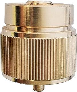 "MENSI Propane Gas Camping Stove Adapter 1LB Small Tank Convert to EN417 Bottle Thread 7/16"" Brass Adapter"