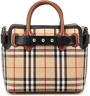 Womens Baby Belt Vintage Check Satchel Handbag