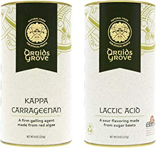 Druids Grove Kappa Carrageenan + Lactic Acid Value Pack ☮ Vegan ⊘ Non-GMO ❤ Gluten-Free ✡ OU Kosher Certified - 16 oz. (Bundle with 2 items)