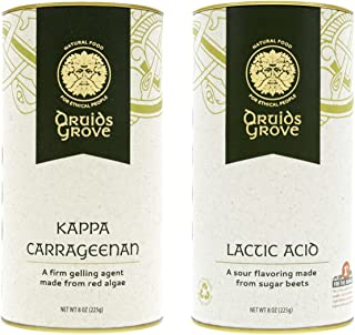Druids Grove Kappa Carrageenan + Lactic Acid Value Pack ☮ Vegan ⊘ Non-GMO ❤ Gluten-Free ✡ OU Kosher Certified - 16 oz. (Bundle with 2 items)