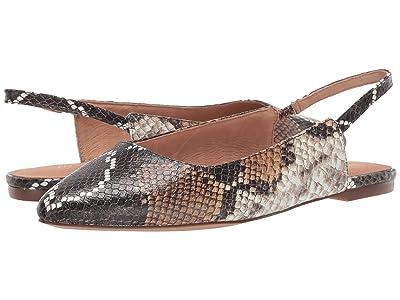 Madewell Isla Slingback Flat Snake (Warm Ash Multi) Women