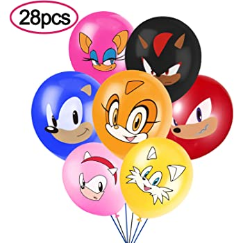 Amazon Com Sonic Inspired Hedgehog Party Supplies Birthday Party Balloons For Sonic The Hedgehog Theme Party Includes 7 Styles Printed Ideal For Kids Party Decorations Favors Pack Of 28 Toys Games